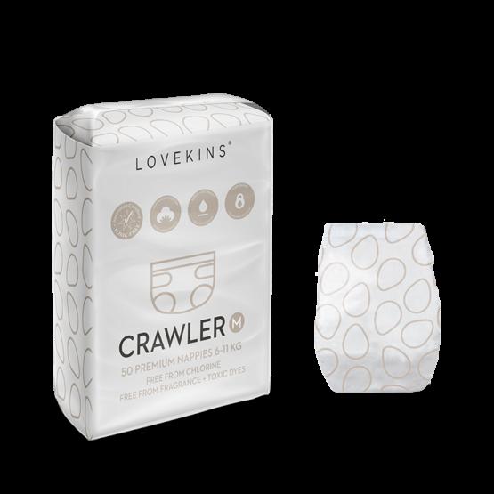 Lovekins: 50 Premium Nappies (Crawler)