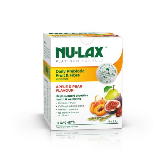 Nu-Lax Platinum Daily Prebiotic Fruit & Fibre Powder 15 x 5.5g sachets